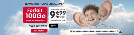 promo forfait nrj mobile 100 go 9 99 euros pour une dur e limit e iphone x 8 ipad et. Black Bedroom Furniture Sets. Home Design Ideas