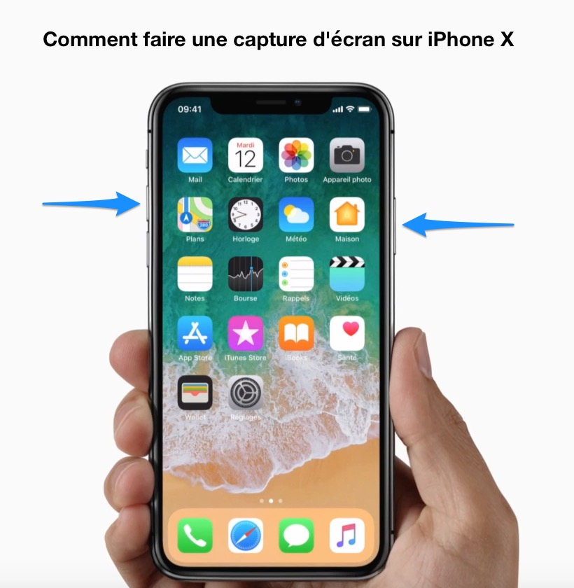 Comment faire une capture d 39 cran sur iphone x iphone for Prendre photo ecran