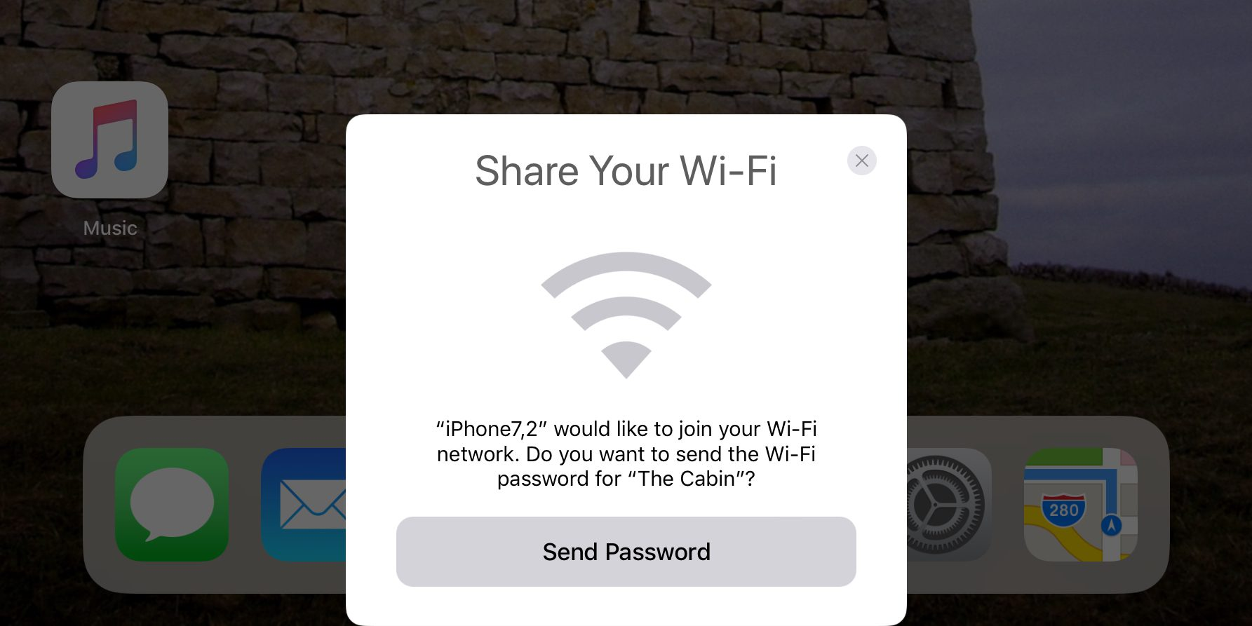 how to get internet password from iphone