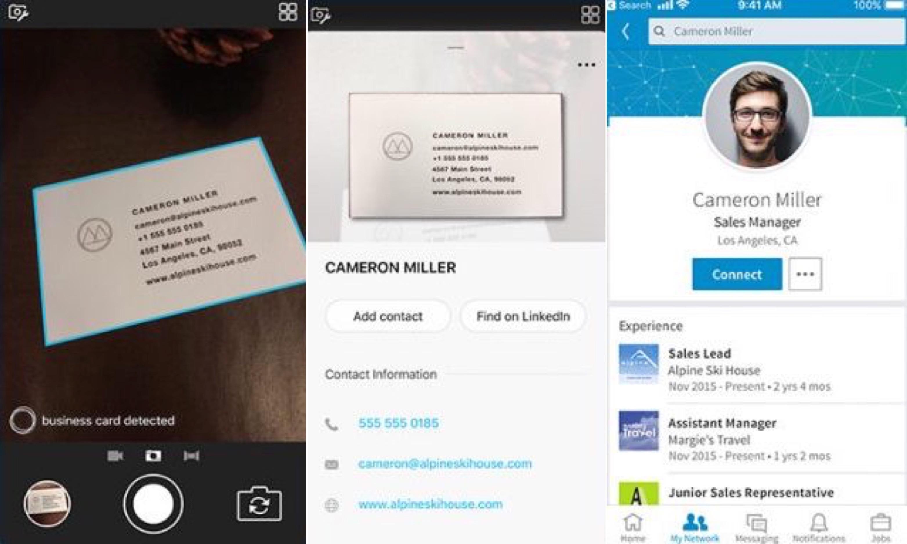 Microsoft Pix Detecte Carte Visite Contacts 2
