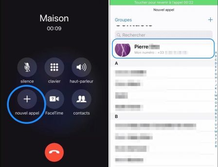 comment enregistrer pendant un appel iphone