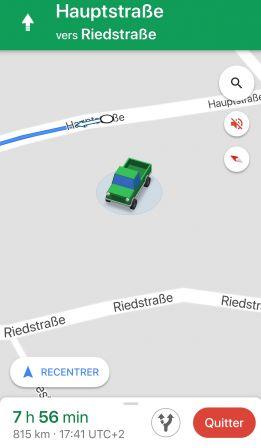 guidage google maps nouvelle option pour remplacer la fl che bleue par une ic ne de v hicule. Black Bedroom Furniture Sets. Home Design Ideas