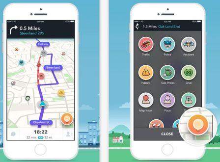 nouvelle version et interface pour le gps waze sur iphone. Black Bedroom Furniture Sets. Home Design Ideas