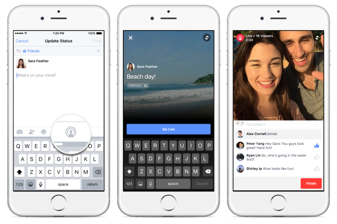 facebook ouvre son periscope mobile au grand public et autres nouveaut s sur l 39 app. Black Bedroom Furniture Sets. Home Design Ideas