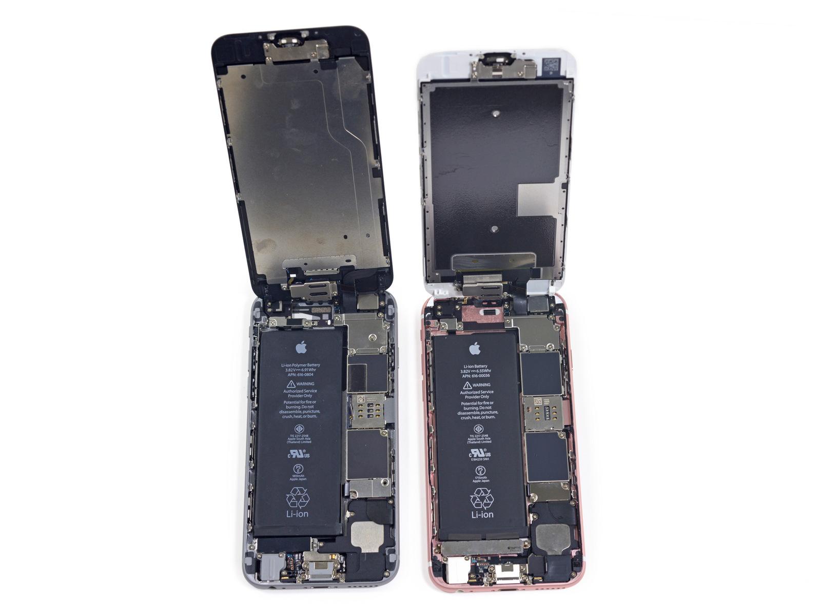 D montage de l 39 iphone 6s ce qui a chang et photos for Interieur iphone