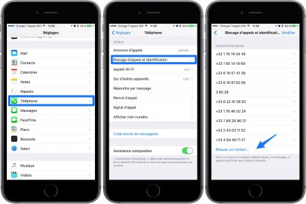 Bloquer Un Contact Iphone Ios