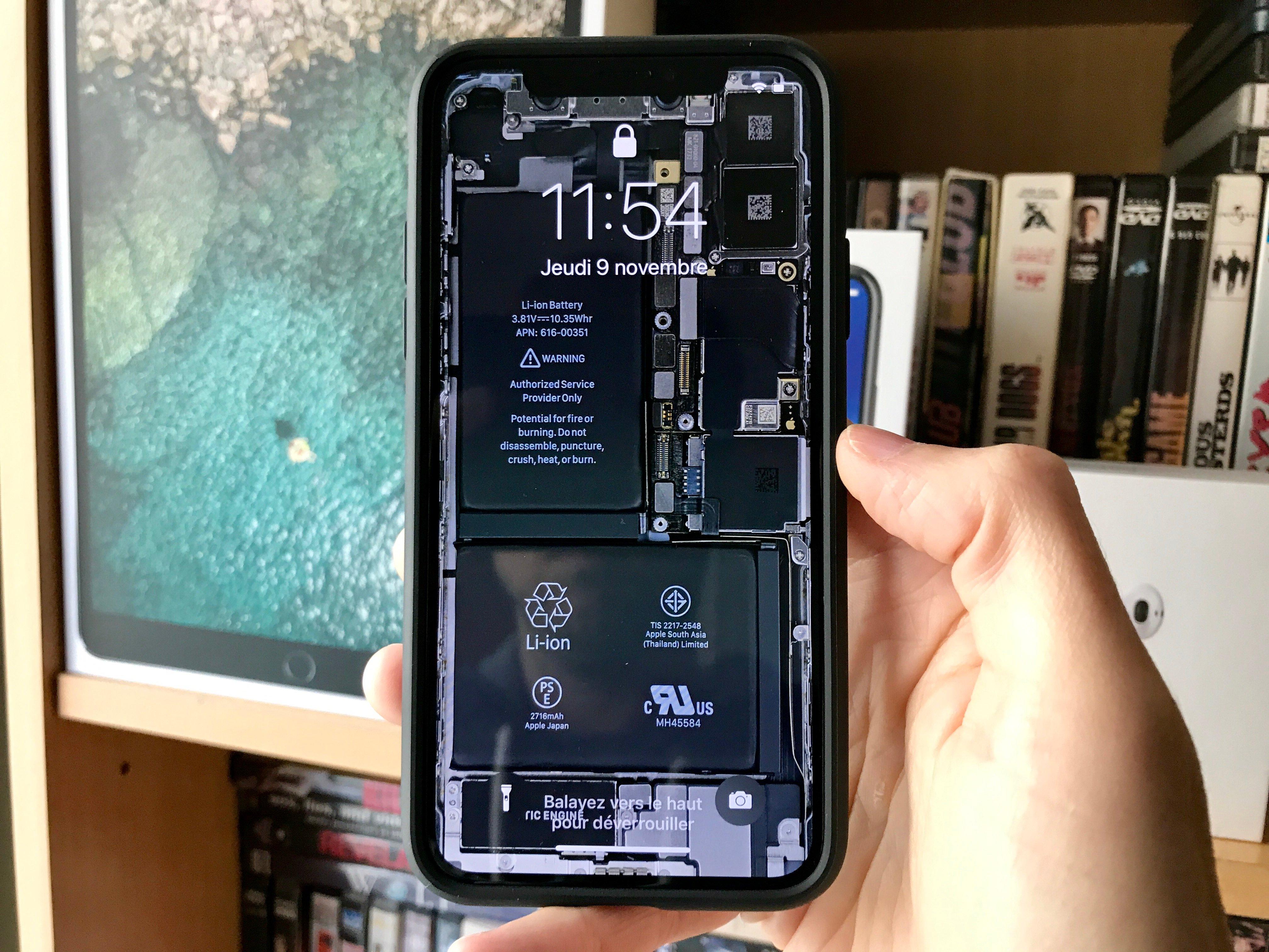 L Iphone X Mis A Nu Avec Des Fonds D Ecrans Indiscrets