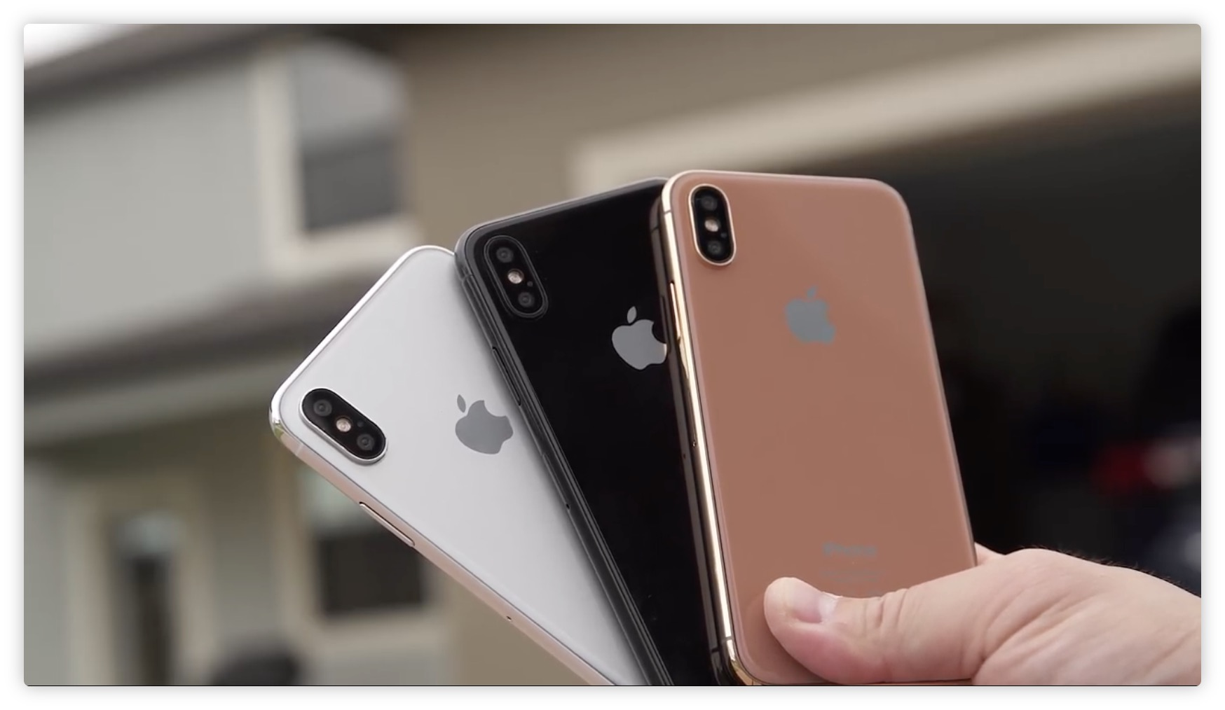 rumeur le coloris cuivr de l 39 iphone 8 serait en fait un blush gold disponible en 2. Black Bedroom Furniture Sets. Home Design Ideas