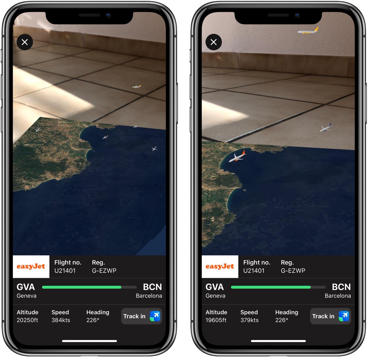 Plane Finder 3D fait voler les (vrais) avions en Réalité Augmentée