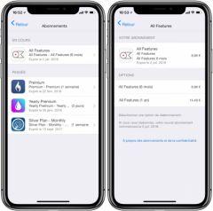Comment voir tous ses abonnements iTunes et les stopper/réactiver, sur iPhone, iPad