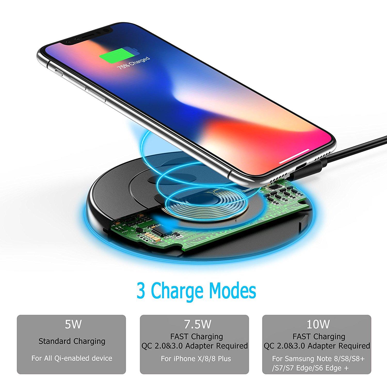 un chargeur rapide 7 5 w iphone x et iphone 8 seulement 15 euros disponible chez choetec. Black Bedroom Furniture Sets. Home Design Ideas