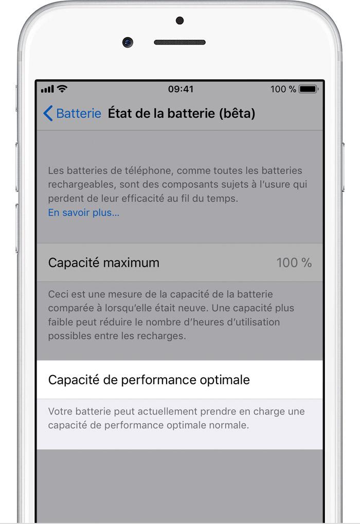 Comment vérifier l'état et la capacité de la batterie de