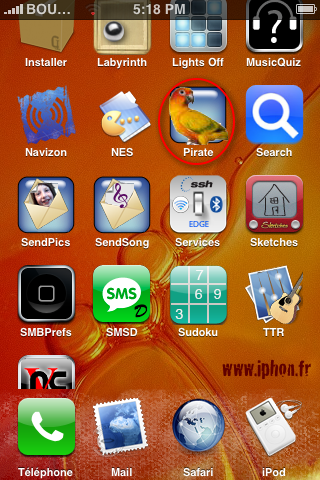 Applications pour iPhone et Androïd...