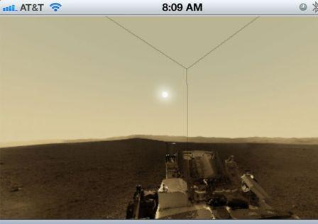 vue à 360° de Mars sur votre iDevice
