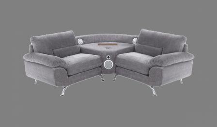 le sound sofa un canap d 39 angle qui int gre dock iphone et enceintes bluetooth 2 1 iphone x. Black Bedroom Furniture Sets. Home Design Ideas