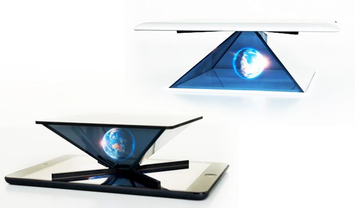 Un accessoire et une app pour g n rer des hologrammes 3d for Miroir projector stand