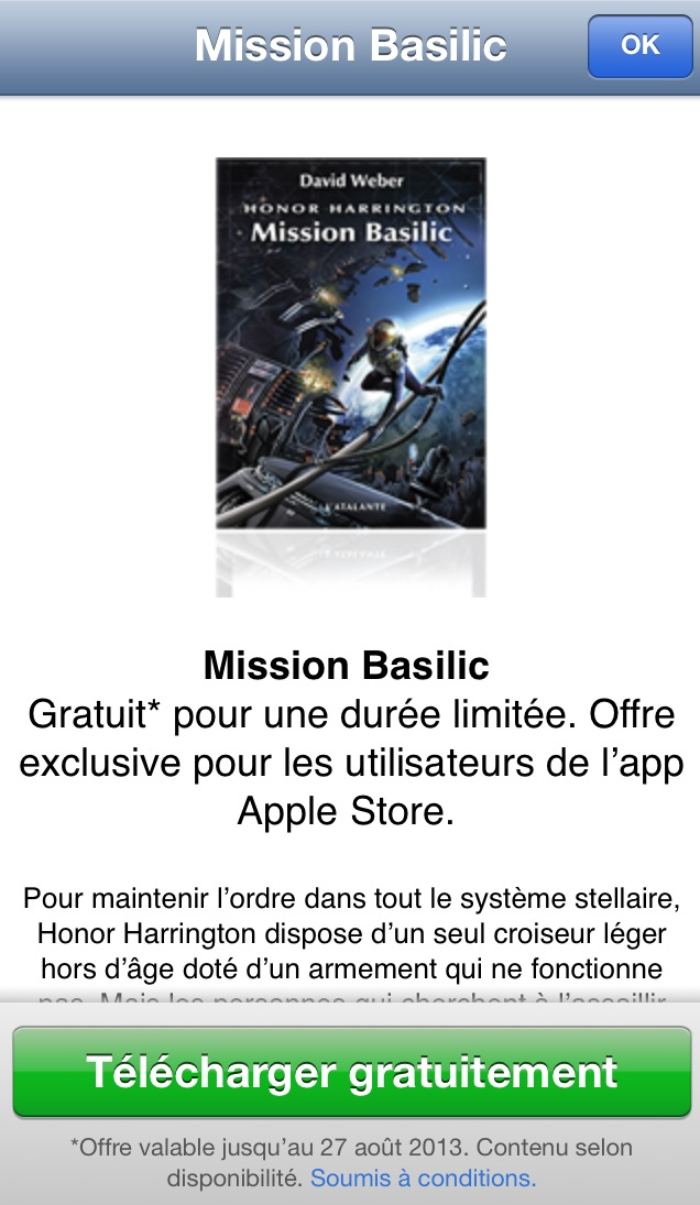application apple store gratuite pour ipad