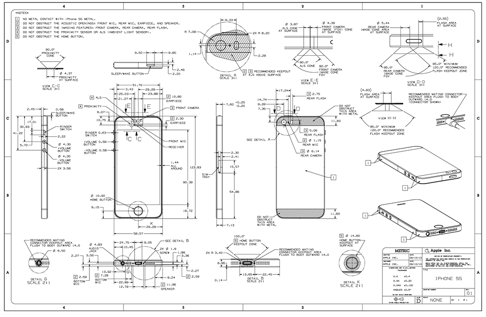 iPhone 5S et accessoires iPhone 5 : de légères différences à prévoir