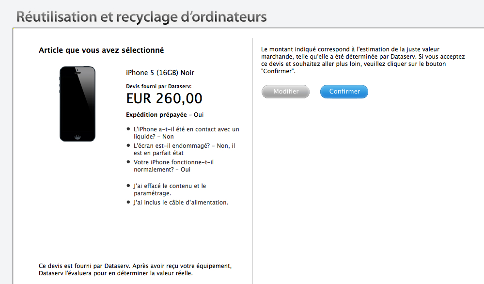 Recyclage Iphone S Go