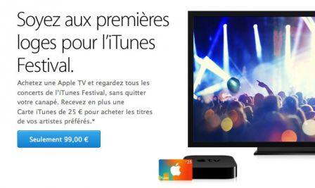 carte itunes de 25 euros offerte pour l 39 achat d 39 une apple tv. Black Bedroom Furniture Sets. Home Design Ideas