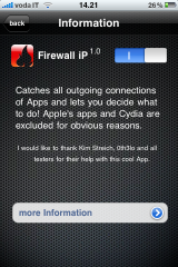 Firewall IP : le 1er Firewall pour iPhone/iPod Touch Disponible 1