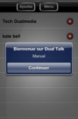 Dual Talk le talkie walkie pour iPhone, licences US à gagner. 3