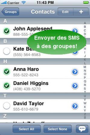 30 Licences pour le logiciel SMSGroupés pour iPhone à gagner 1