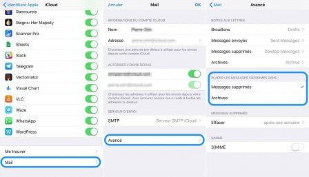 Pratique iOS: choisir d'archiver ou de supprimer les mails sur iPhone ou iPad - Màj 7