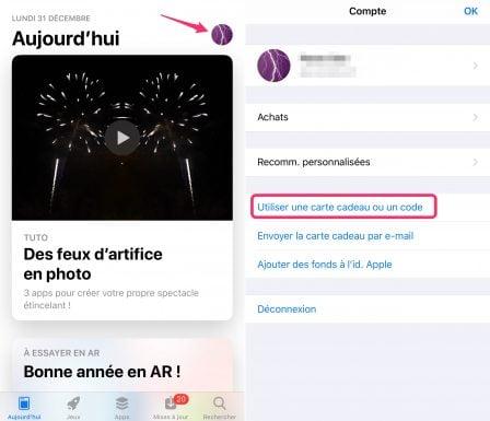 """Pratique iPhone: Utiliser un """"code promo"""" sur l'App Store 1"""