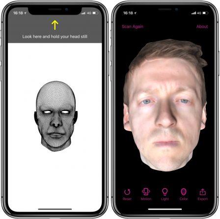 La modélisation 3D de son visage à portée d'iPhone X avec l'app Bellus3D FaceApp 3
