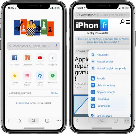 """Comment activer la nouvelle interface """"Material"""" dans Google Chrome sur iPhone, iPad (et Mac) 3"""