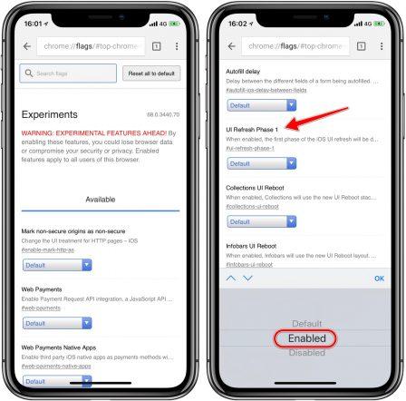 """Comment activer la nouvelle interface """"Material"""" dans Google Chrome sur iPhone, iPad (et Mac) 2"""