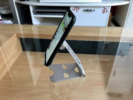 Test du support iPhone et iPad Choetec: alu, pliable et pas cher! 4