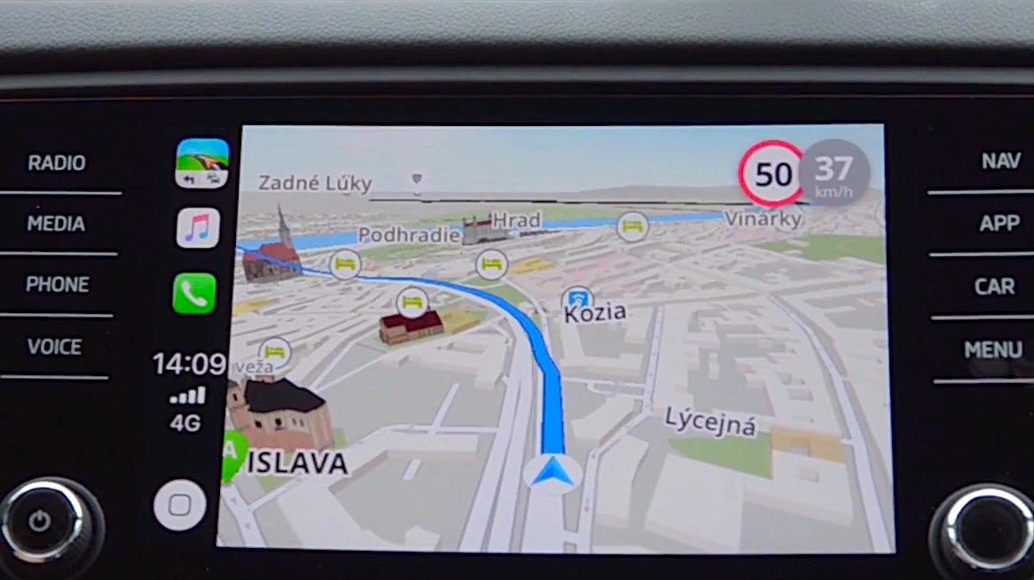 l 39 app gps sygic rejoint waze et google maps sur carplay. Black Bedroom Furniture Sets. Home Design Ideas
