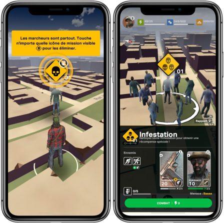 """Les zombies de """"The Walking Dead: Our World"""" débarquent sur iPhone façon Pokémon GO 2"""