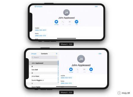 Comme l'iPhone Plus, l'iPhone X grand écran à venir aura le mode paysage d'après iOS 12 2