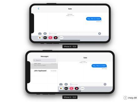 Comme l'iPhone Plus, l'iPhone X grand écran à venir aura le mode paysage d'après iOS 12 4