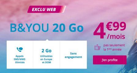 Dernier jour - Promos forfaits B&You et SFR Red prolongées: illimité + 20 Go à 5€ mensuels (MàJ) 4