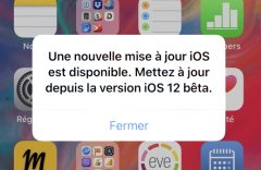 iOS 12 Beta: un message de mise à jour régulièrement affiché par erreur 2