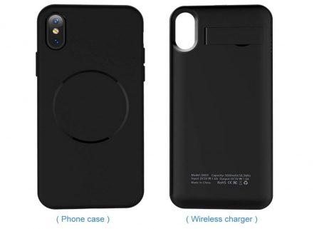 En promo flash: batterie externe à induction et sa coque pour recharger l'iPhone X 5