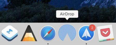 En pratique: comment ajouter un raccourci vers AirDrop dans le dock Mac 5