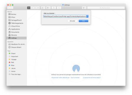 En pratique: comment ajouter un raccourci vers AirDrop dans le dock Mac 3