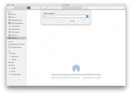 En pratique: comment ajouter un raccourci vers AirDrop dans le dock Mac 2