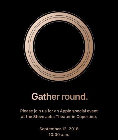 Officiel: prochain keynote Apple le 12 septembre, iPhone Xs, Xs Plus, 9, nouvelle Watch et plus? 2