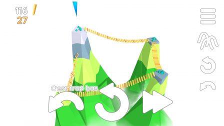 La tête au-dessus des montagnes, résolvez les casse-têtes malins de Summit Way, nouveau jeu iPhone, iPad 3