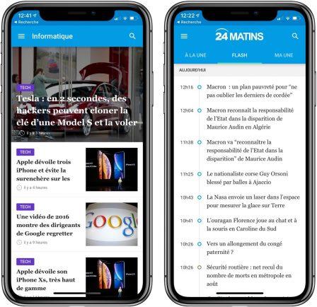 """Nouvelle app d'info en continu: """"24matins"""" iPhone vous fait gagner un iPhone XS, découvrez comment participer! 2"""
