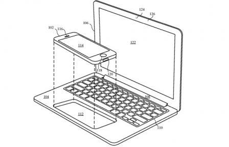 Un iPhone qui se glisse dans le MacBook, Apple y réfléchit 2