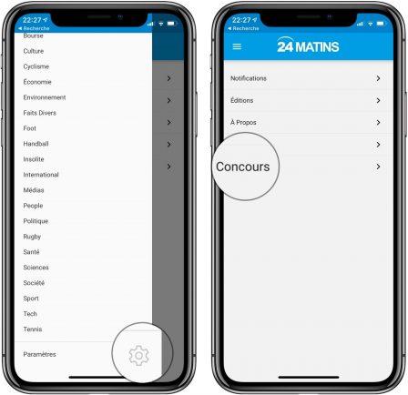 """Nouvelle app d'info en continu: """"24matins"""" iPhone vous fait gagner un iPhone XS, découvrez comment participer! 4"""