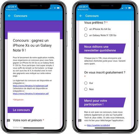 """Nouvelle app d'info en continu: """"24matins"""" iPhone vous fait gagner un iPhone XS, découvrez comment participer! 5"""
