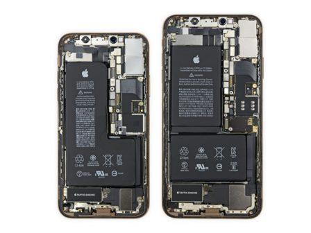 Ce qui change à l'intérieur des iPhone XS: puce de gestion batterie signée Apple et antennes 2